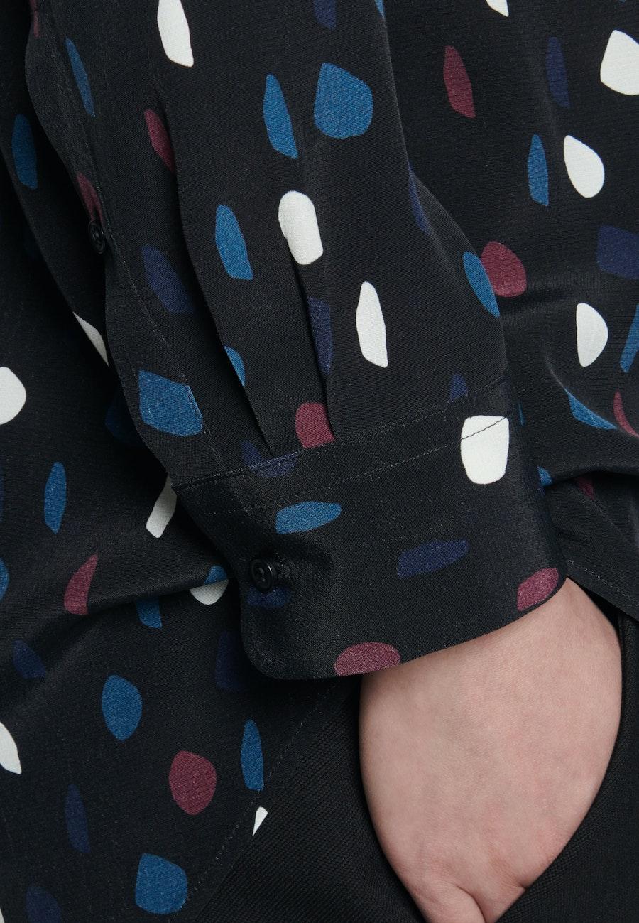 Chiffon Hemdbluse aus 100% Viskose in Grau |  Seidensticker Onlineshop