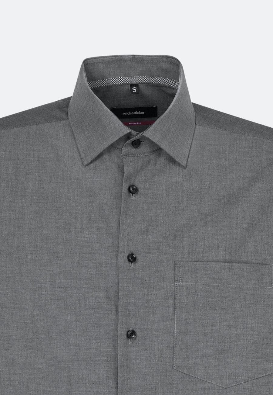 Bügelfreies Chambray Business Hemd in Regular mit Kentkragen in Grau    Seidensticker Onlineshop