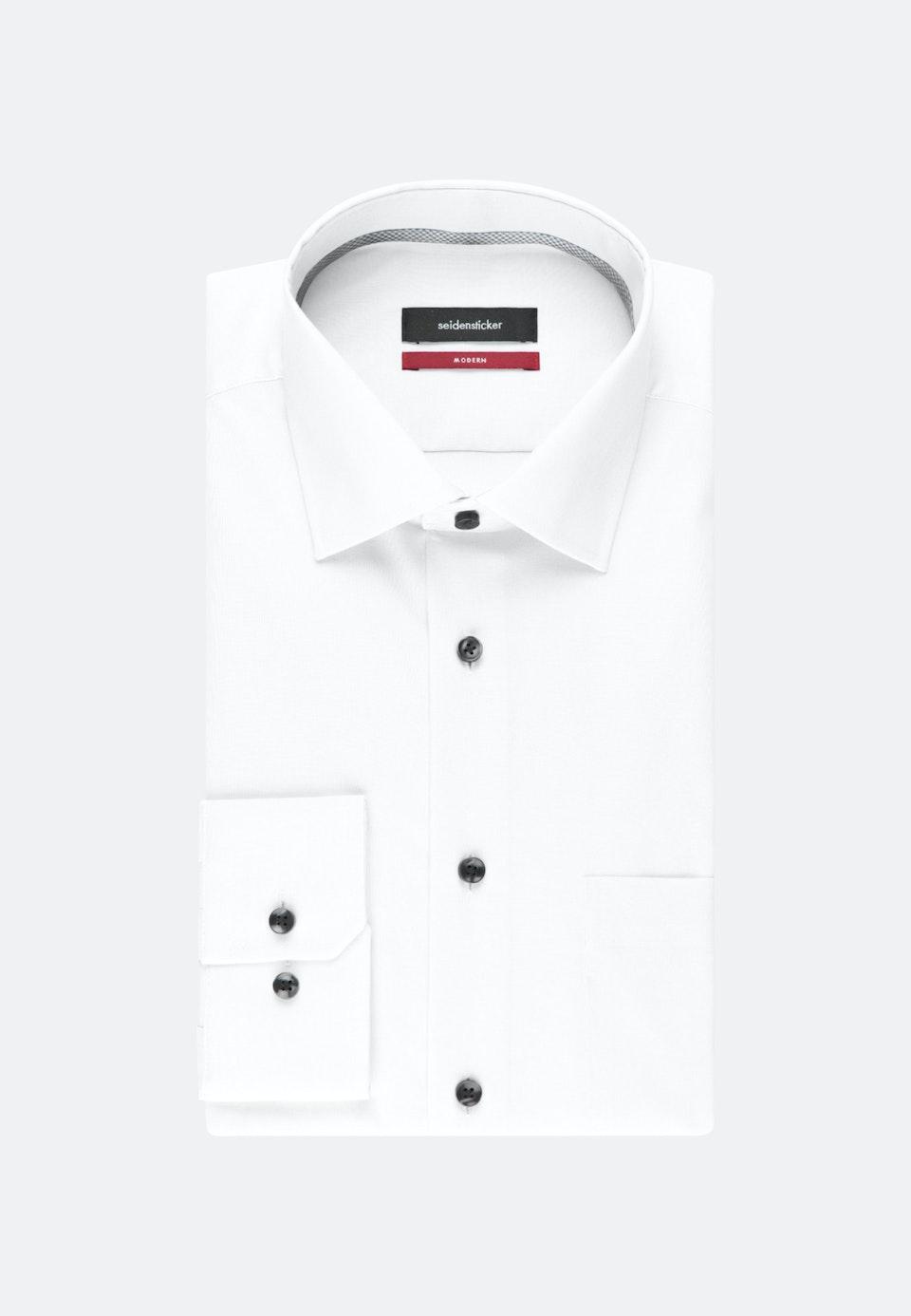 Bügelfreies Chambray Business Hemd in Regular mit Kentkragen in Weiß |  Seidensticker Onlineshop