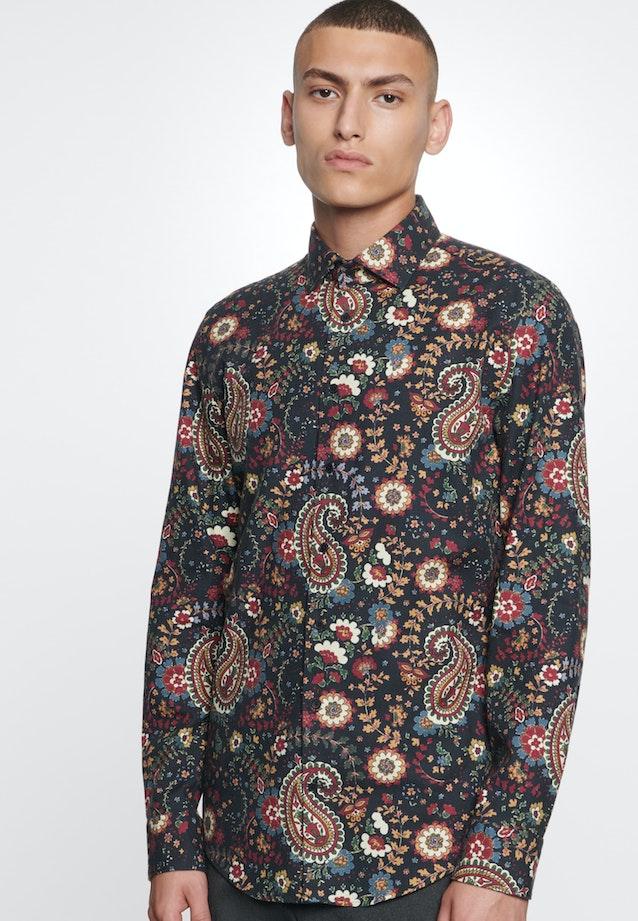Bügelleichtes Twill Business Hemd in Slim mit Kentkragen in Rot    Seidensticker Onlineshop