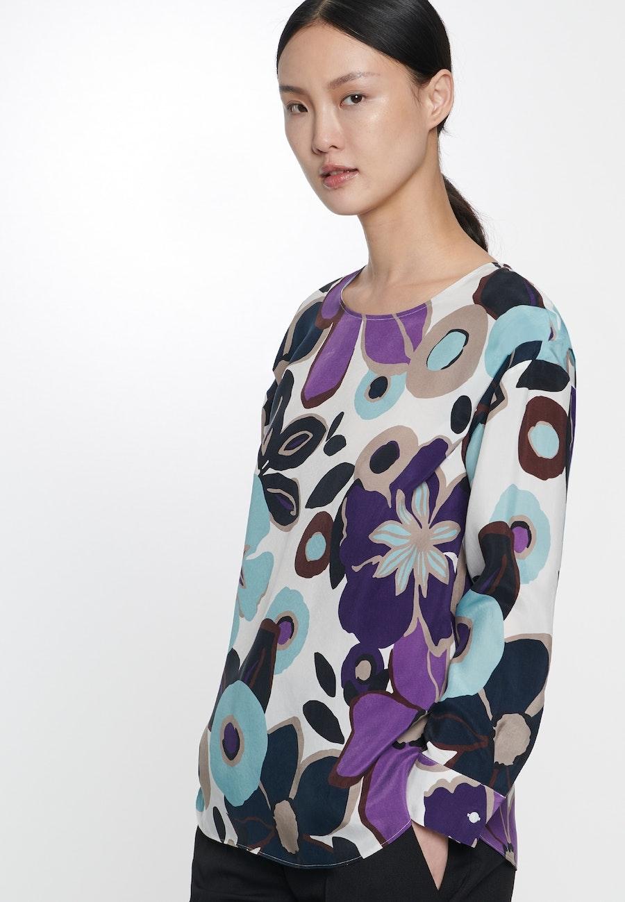 Shirt Blouse made of 100% Cupro in Ecru |  Seidensticker Onlineshop