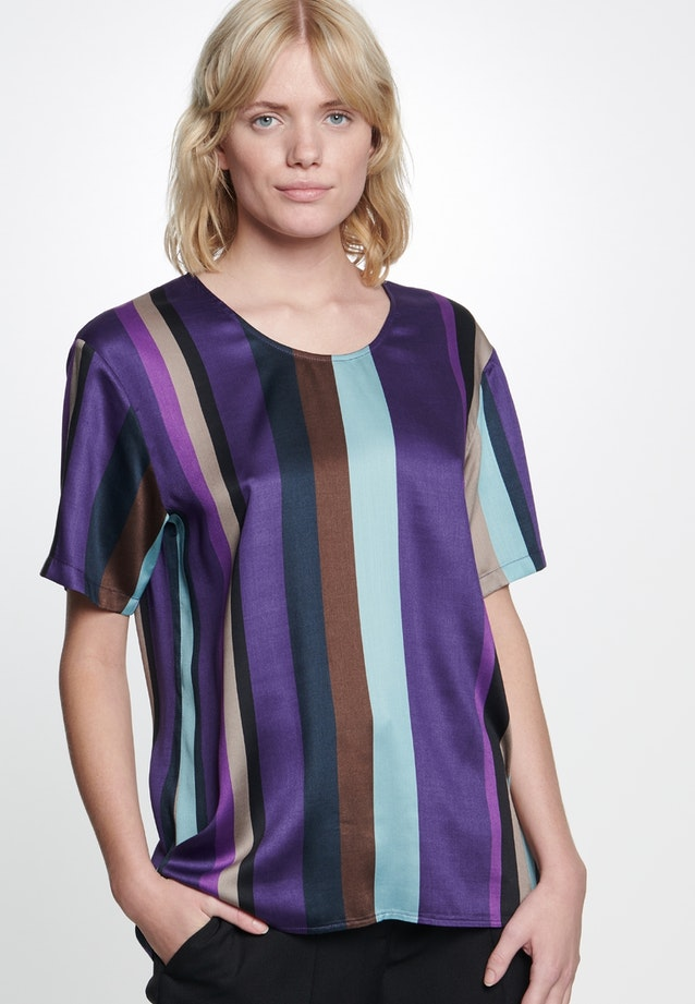 Short sleeve Satin Shirt Blouse made of 100% Viscose in Purple |  Seidensticker Onlineshop