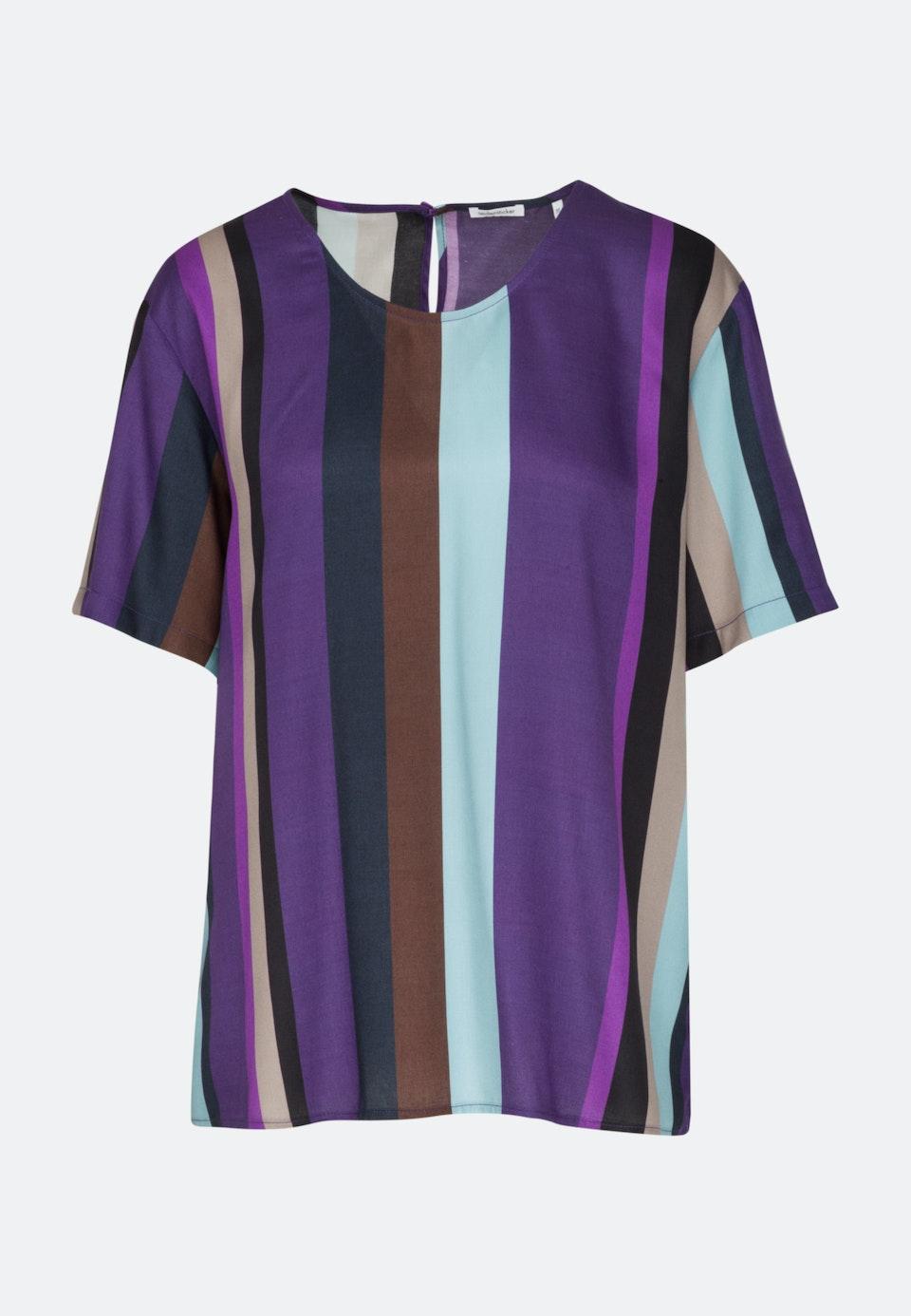 Short sleeve Satin Shirt Blouse made of 100% Viscose in Purple |  Seidensticker Onlineshop