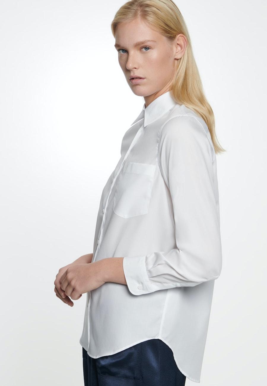 Poplin Shirt Blouse made of 100% Cotton in White |  Seidensticker Onlineshop