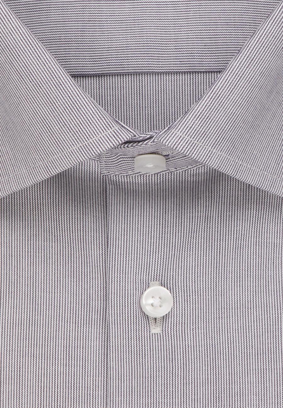 Non-iron Poplin Business Shirt in Shaped with Kent-Collar in Grey |  Seidensticker Onlineshop