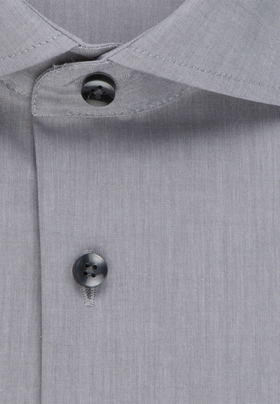 Non-iron Poplin Business Shirt in X-Slim with Kent-Collar in Grey |  Seidensticker Onlineshop