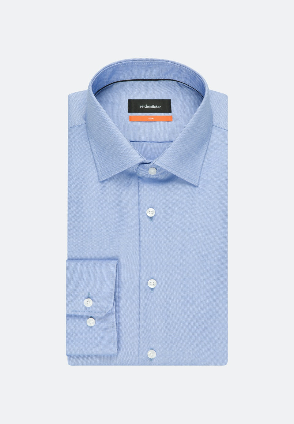 Non-iron Struktur Business Shirt in Slim with Kent-Collar in Light blue    Seidensticker Onlineshop