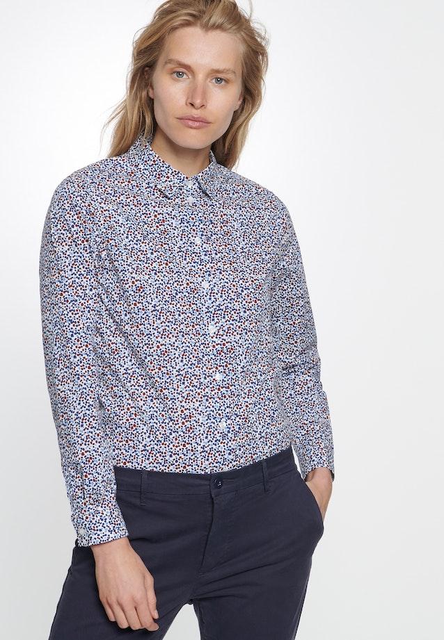 Voile Hemdbluse aus 100% Baumwolle in Mittelblau    Seidensticker Onlineshop
