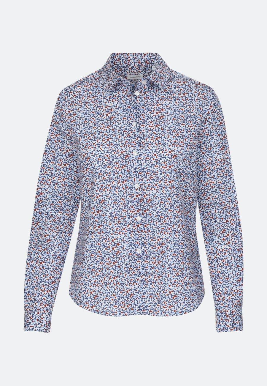 Voile Shirt Blouse made of 100% Cotton in Medium blue    Seidensticker Onlineshop