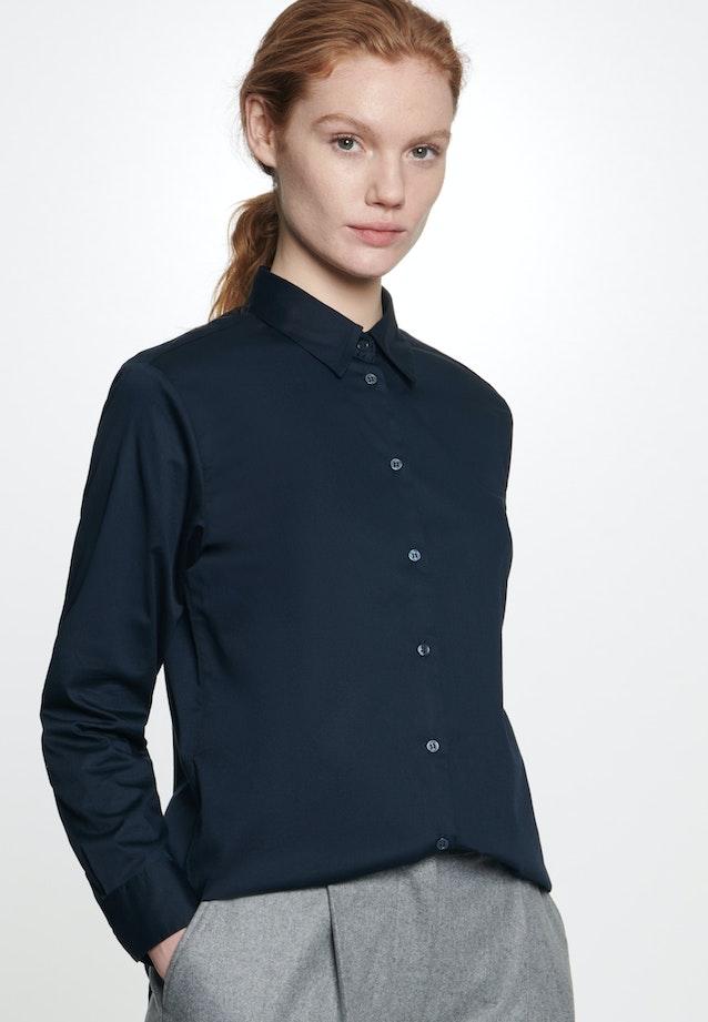 Twill Hemdbluse aus 100% Baumwolle in Dunkelblau    Seidensticker Onlineshop