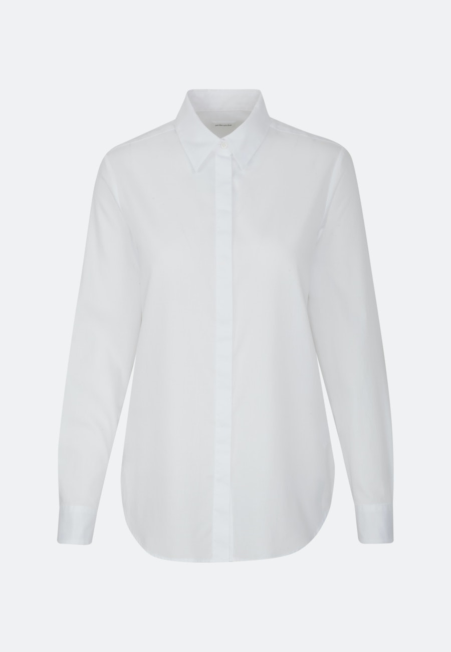 Satin Shirt Blouse made of 100% Cotton in White |  Seidensticker Onlineshop