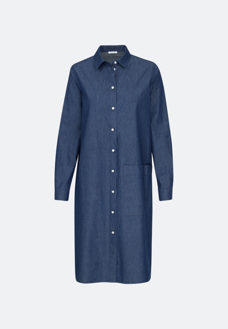 Denim Midi Dress made of 100% Cotton in Dark blue |  Seidensticker Onlineshop