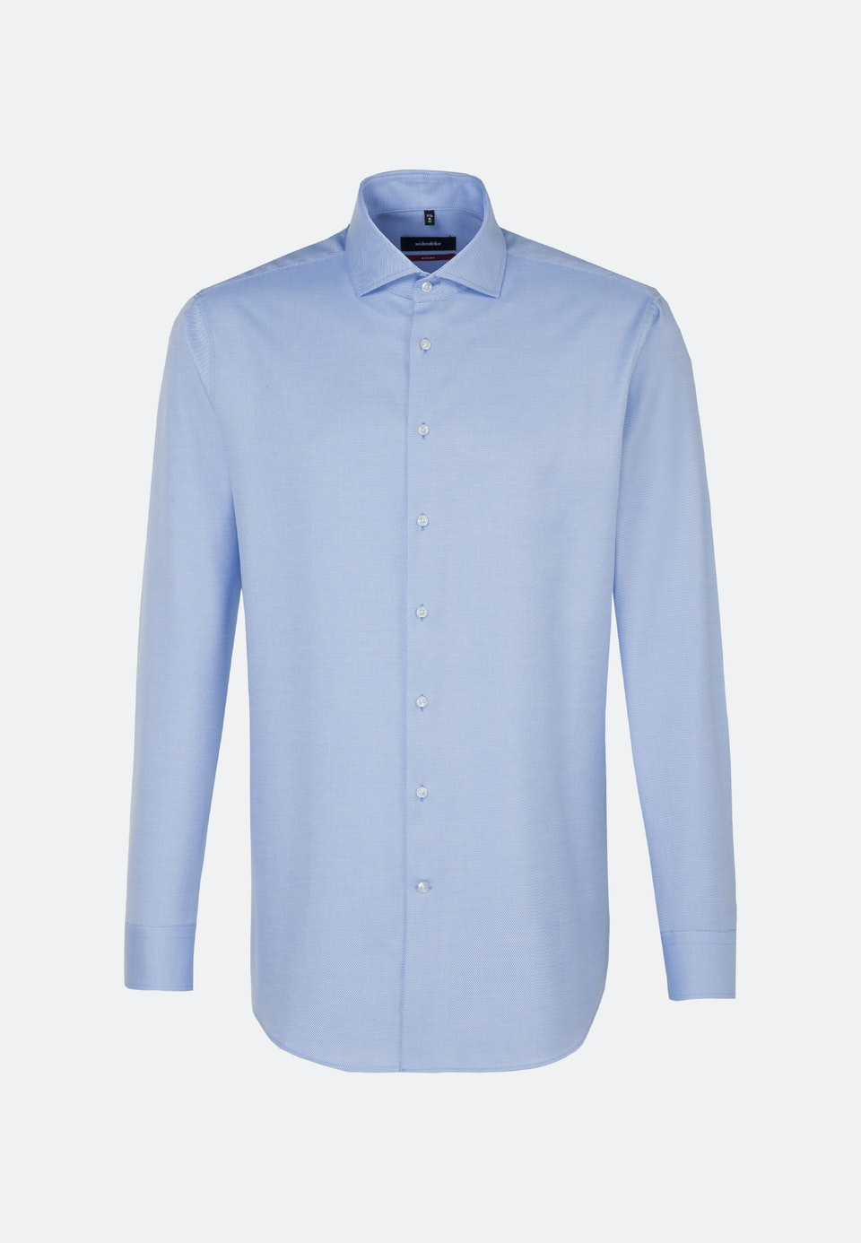 Bügelleichtes Twill Business Hemd in Regular mit Kentkragen in Hellblau |  Seidensticker Onlineshop