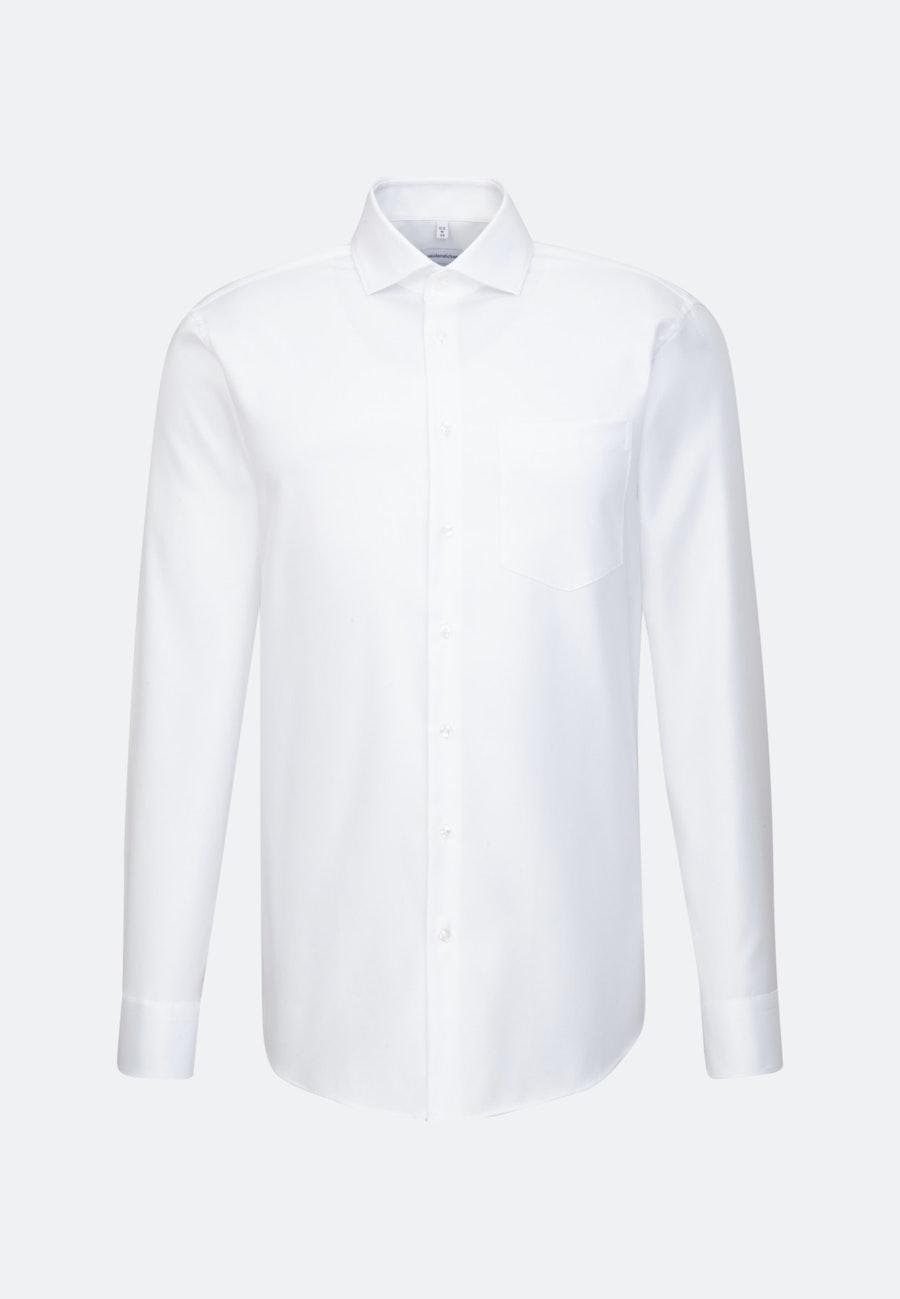 Easy-iron Twill Business Shirt in Regular with Kent-Collar in White    Seidensticker Onlineshop