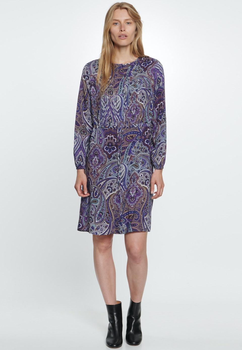 Voile Midi Kleid aus 100% Viskose in Lila    Seidensticker Onlineshop