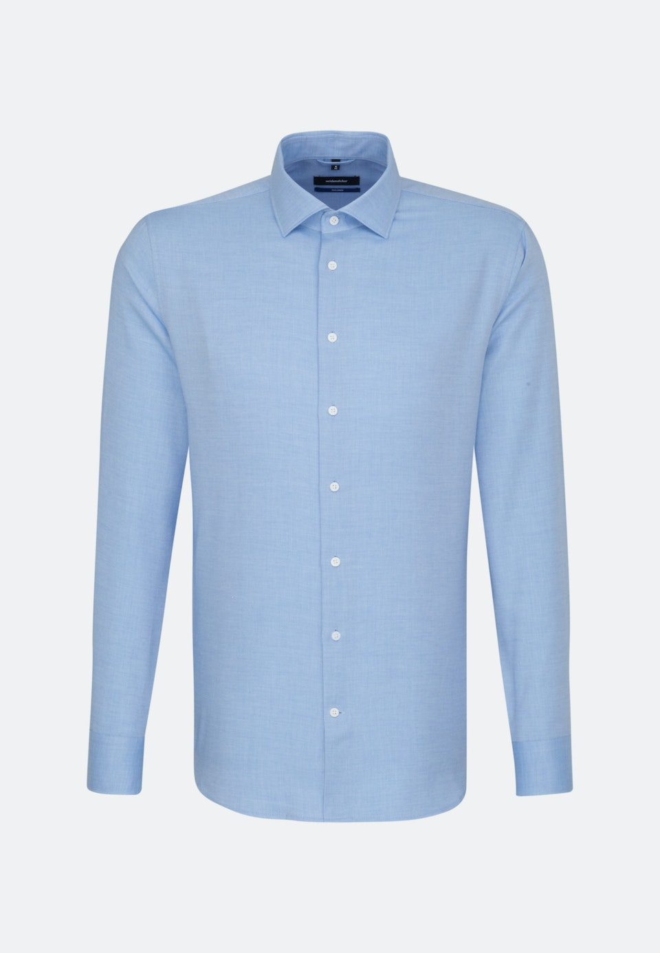 Easy-iron Twill Business Shirt in Shaped with Kent-Collar in Light blue |  Seidensticker Onlineshop