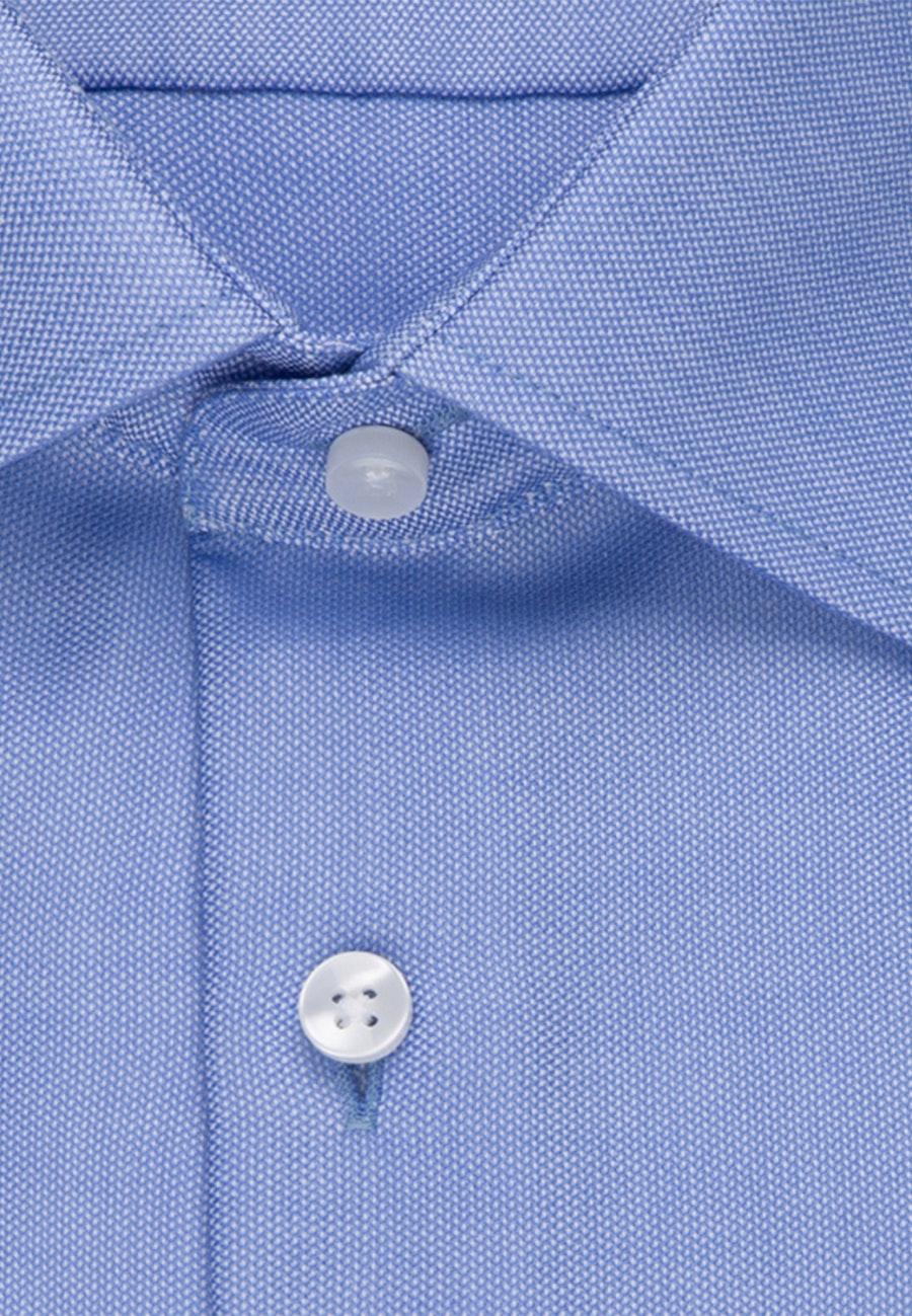 Bügelfreies Struktur Business Hemd in Shaped mit Kentkragen in Hellblau    Seidensticker Onlineshop