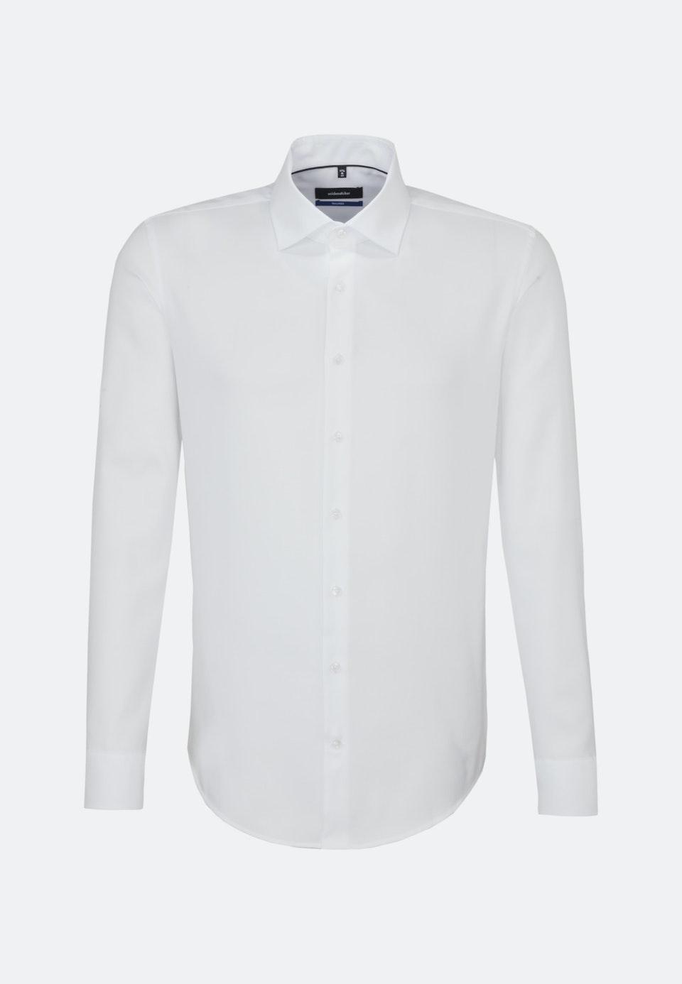 Non-iron Struktur Business Shirt in Shaped with Kent-Collar in White    Seidensticker Onlineshop