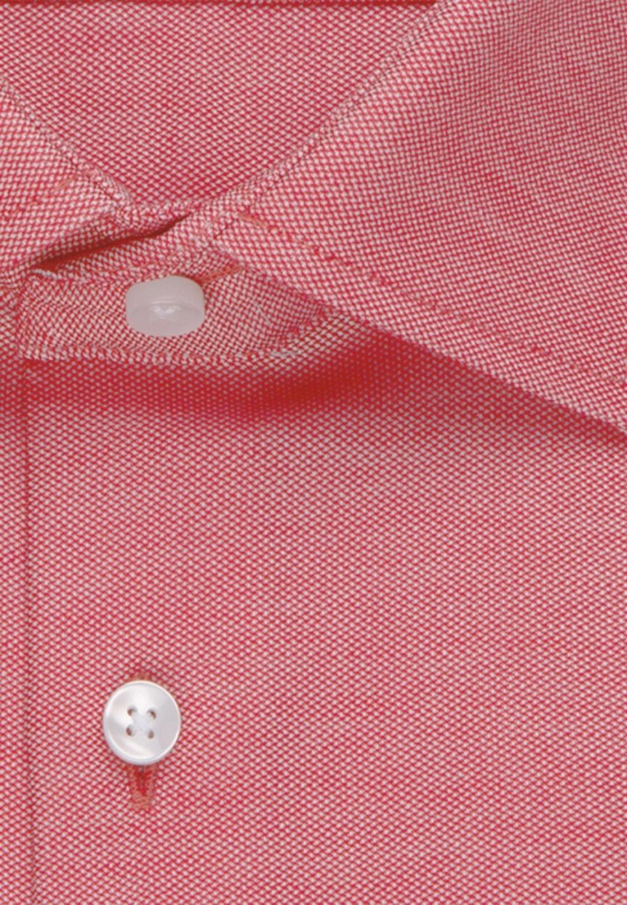 Bügelfreies Struktur Business Hemd in Shaped mit Kentkragen in Rot |  Seidensticker Onlineshop
