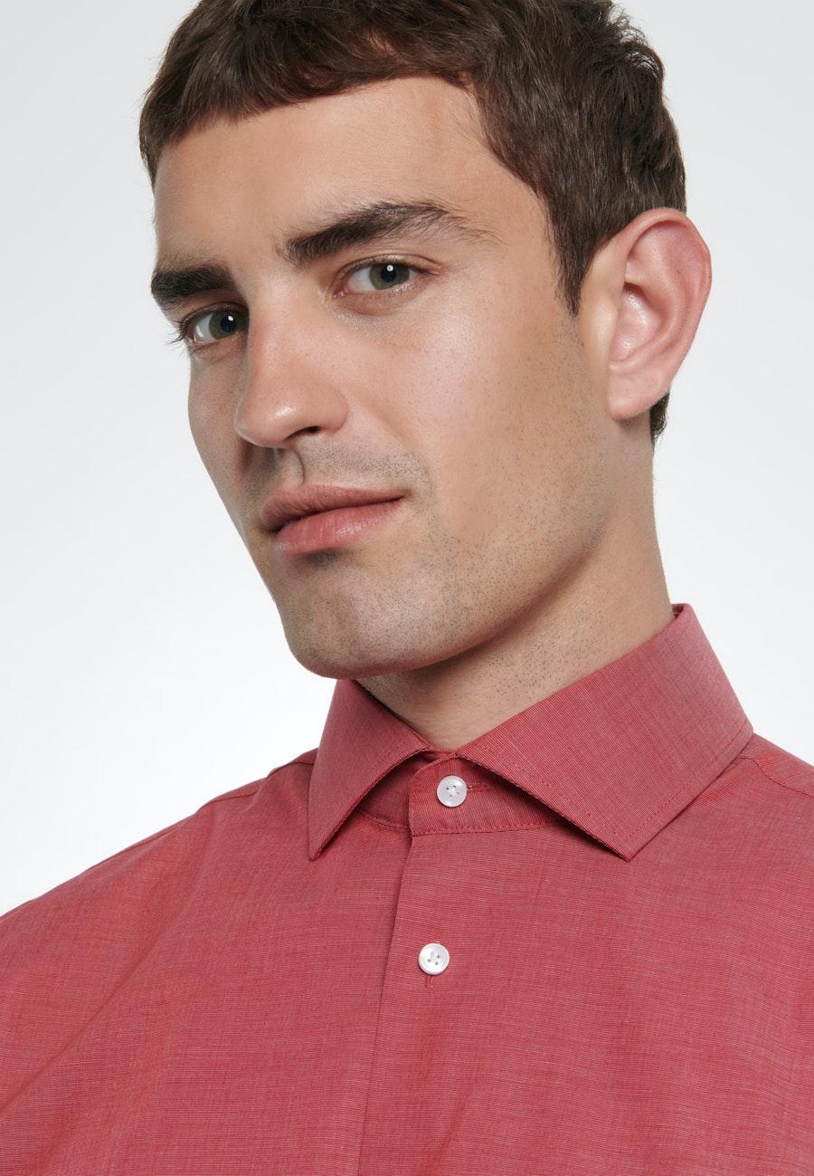 Bügelfreies Fil a fil Business Hemd in Shaped mit Kentkragen in Rot |  Seidensticker Onlineshop