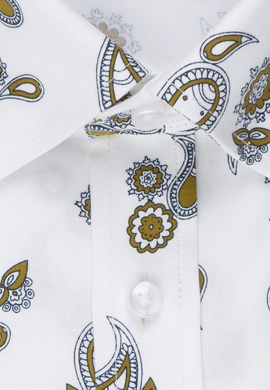 Easy-iron Twill Business Shirt in Regular with Covered-Button-Down-Collar in White |  Seidensticker Onlineshop