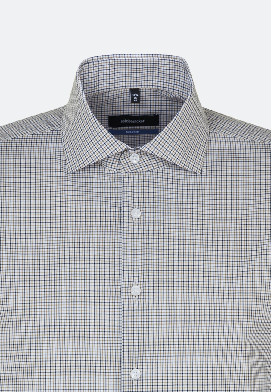 Non-iron Popeline Business Shirt in Shaped with Kent-Collar in Yellow |  Seidensticker Onlineshop
