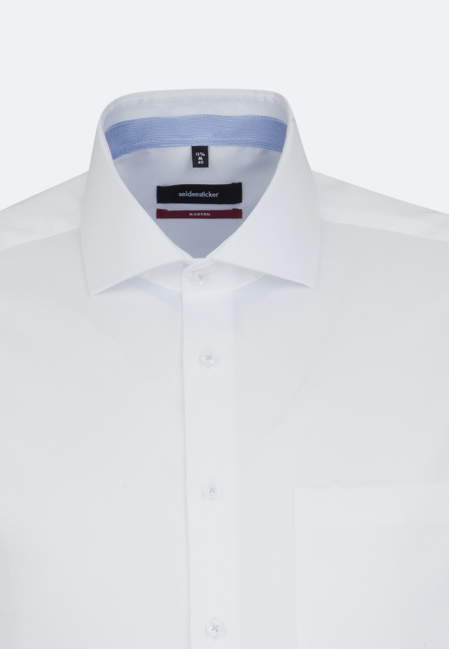 Bügelfreies Twill Business Hemd in Regular mit Kentkragen und extra langem Arm in Weiß    Seidensticker Onlineshop