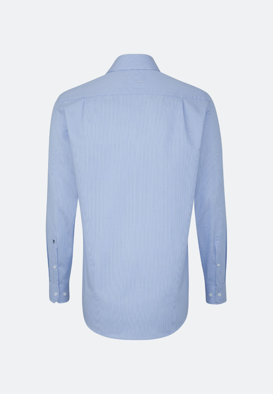 Non-iron Twill Business Shirt in Regular with Kent-Collar and extra long sleeve in Light blue |  Seidensticker Onlineshop