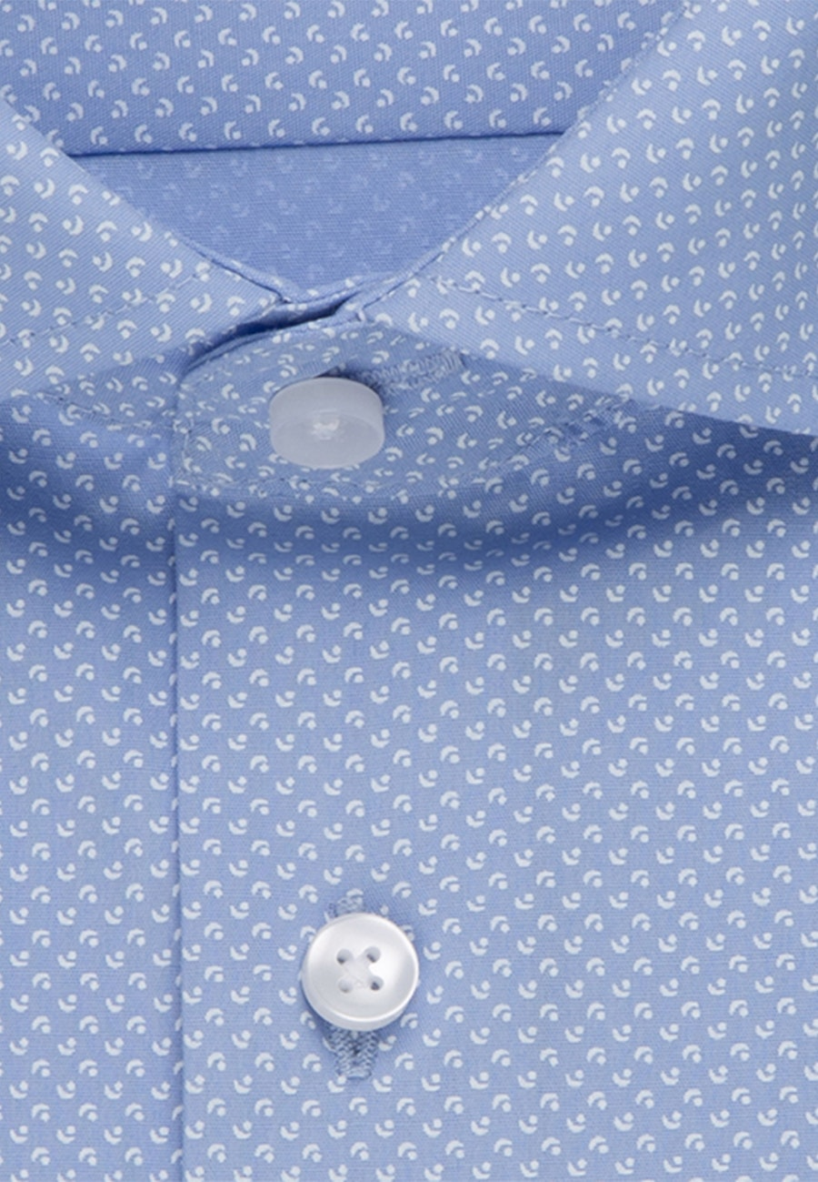 Easy-iron Popeline Business Shirt in Regular with Kent-Collar in Light blue |  Seidensticker Onlineshop