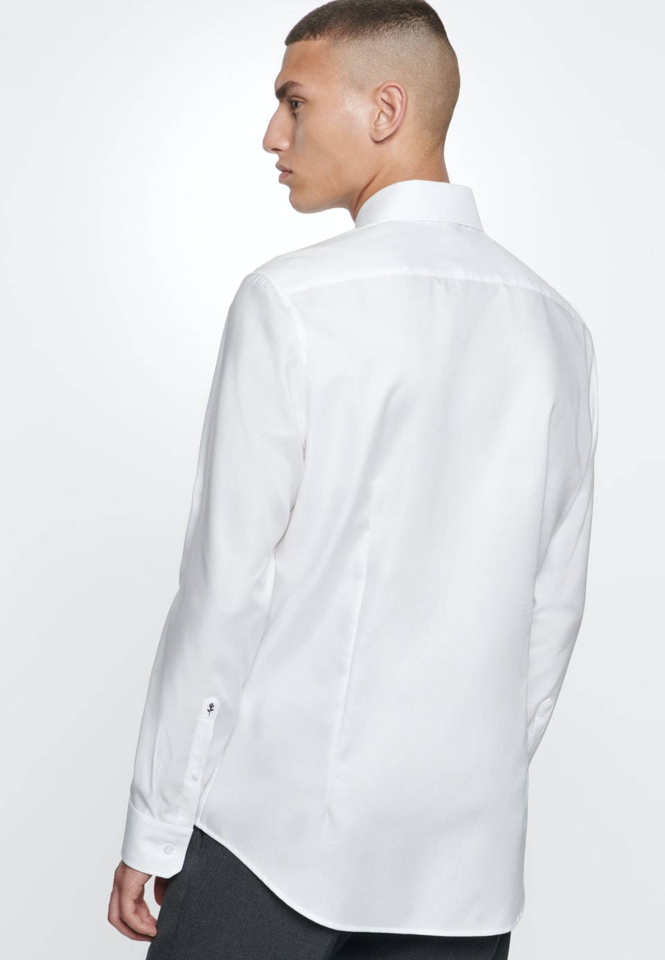 Non-iron Struktur Business Shirt in X-Slim with Kent-Collar in White |  Seidensticker Onlineshop