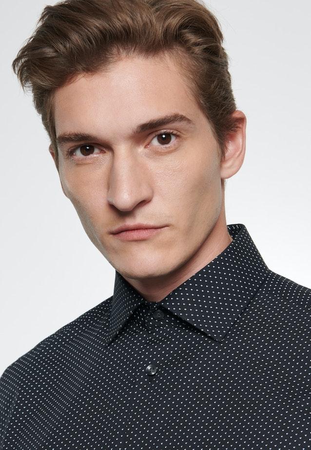 Easy-iron Popeline Business Shirt in Slim with Kent-Collar in Black |  Seidensticker Onlineshop