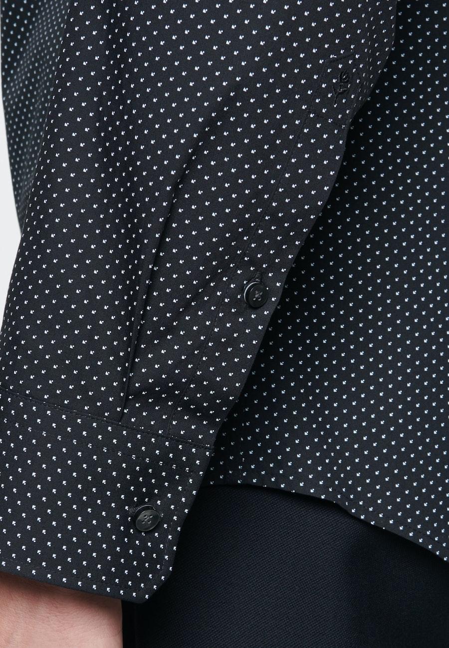 Easy-iron Poplin Business Shirt in Slim with Kent-Collar in Black |  Seidensticker Onlineshop