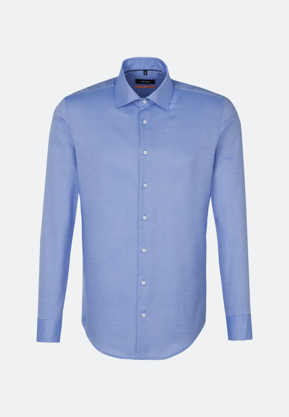 Bügelfreies Struktur Business Hemd in Slim mit Kentkragen und extra langem Arm in Hellblau    Seidensticker Onlineshop