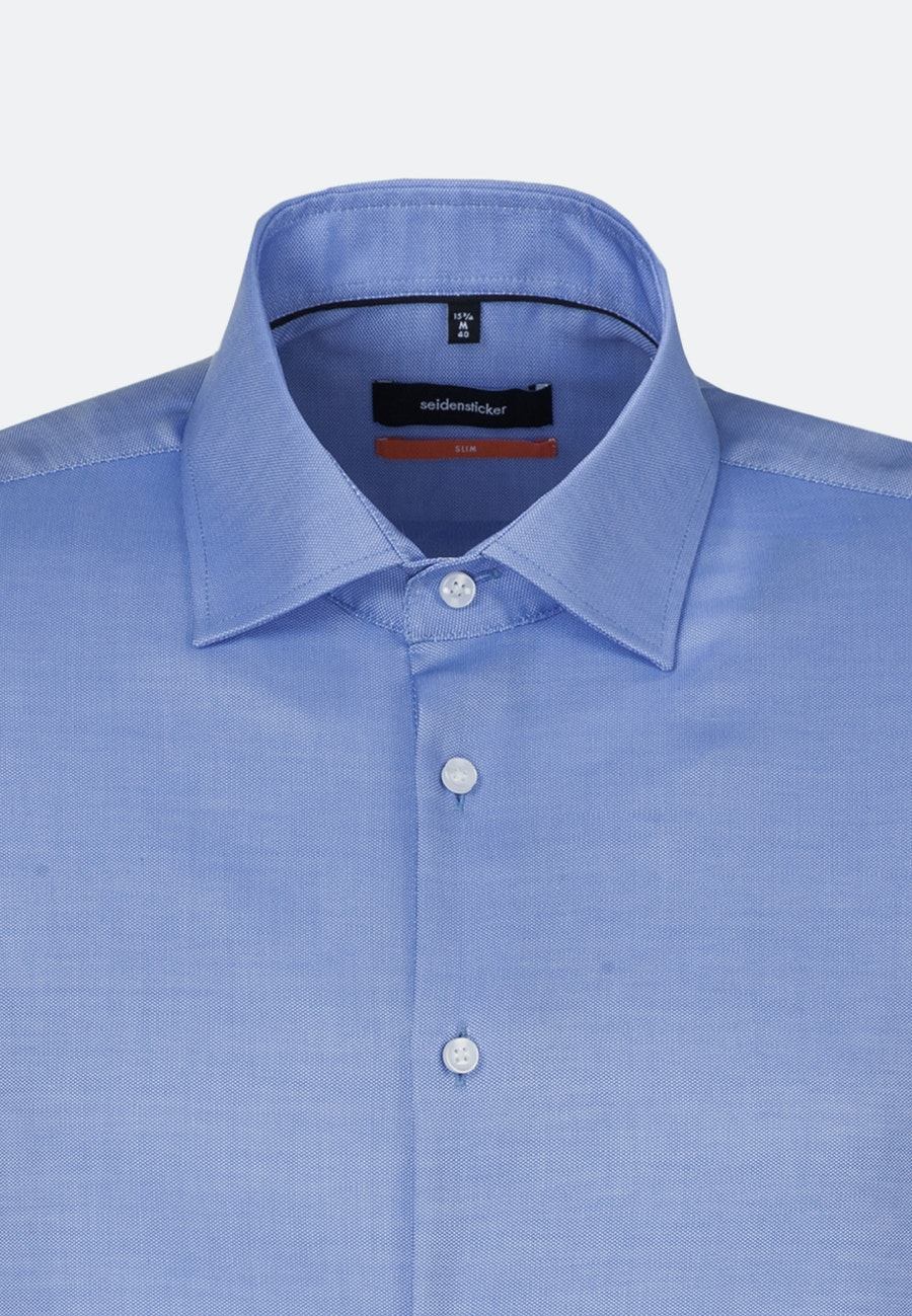 Non-iron Struktur Business Shirt in Slim with Kent-Collar and extra long sleeve in Light blue |  Seidensticker Onlineshop