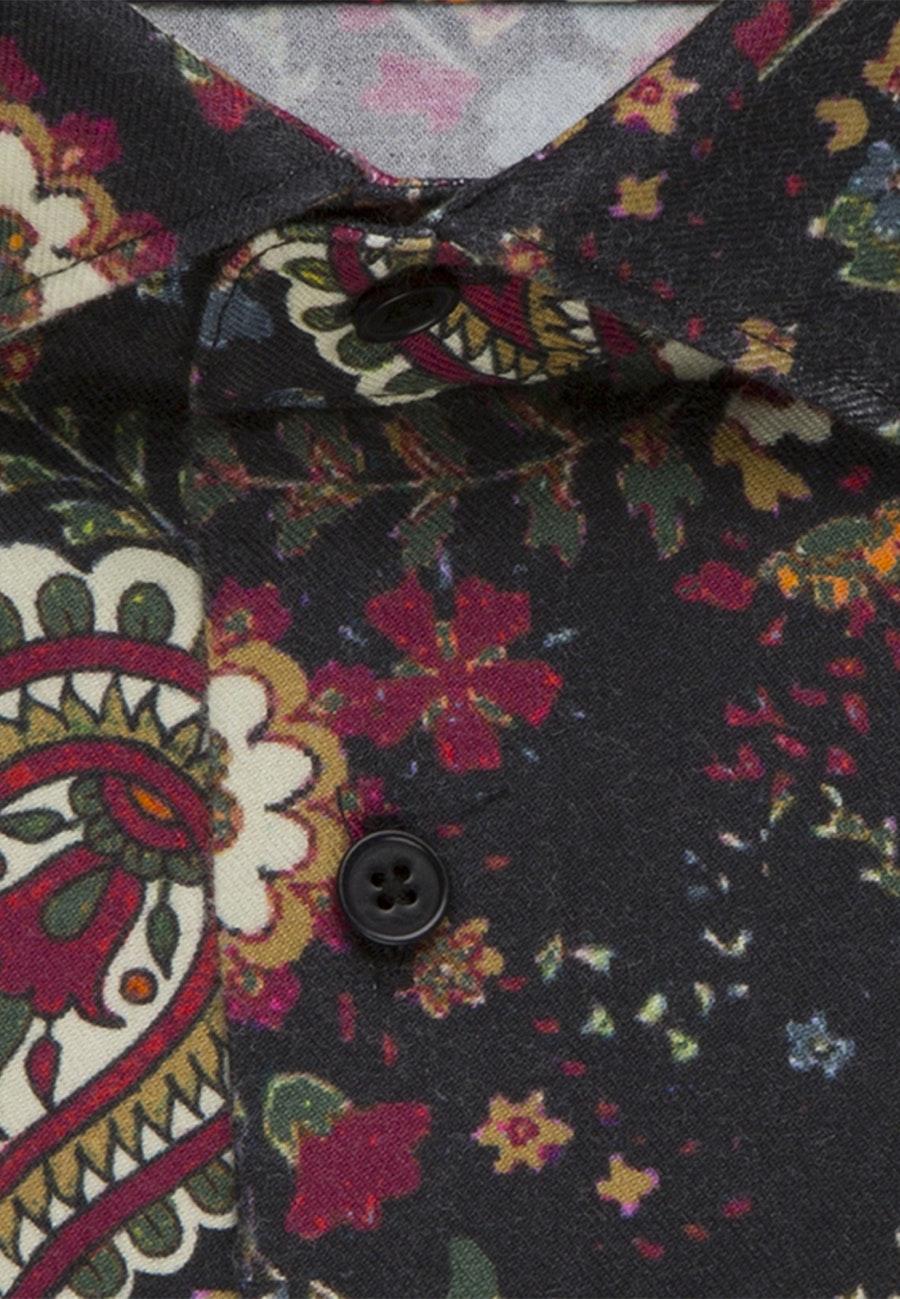 Bügelleichtes Twill Business Hemd in Regular mit Kentkragen in Rot    Seidensticker Onlineshop