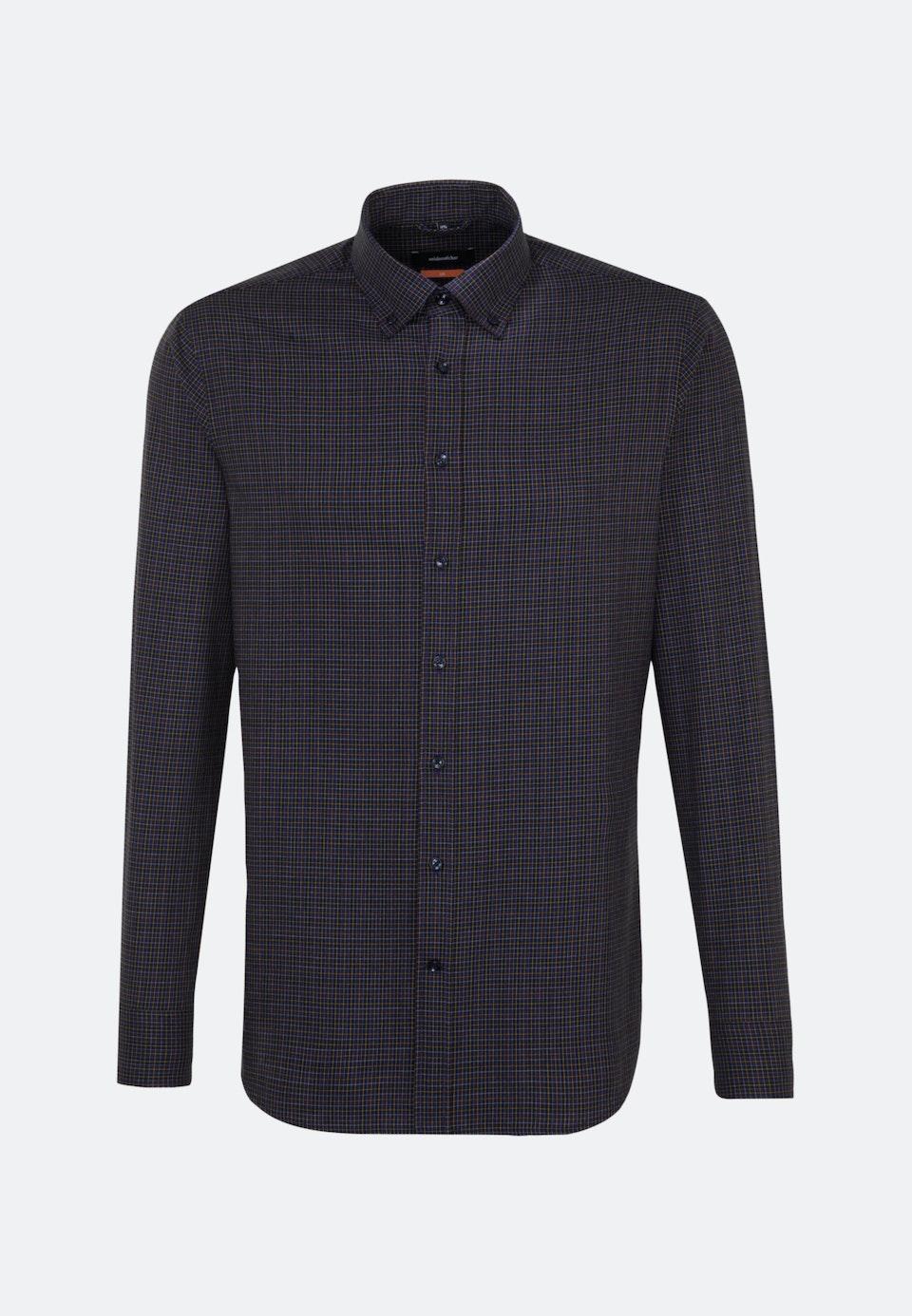 Bügelleichtes Twill Business Hemd in Slim mit Button-Down-Kragen in Lila    Seidensticker Onlineshop