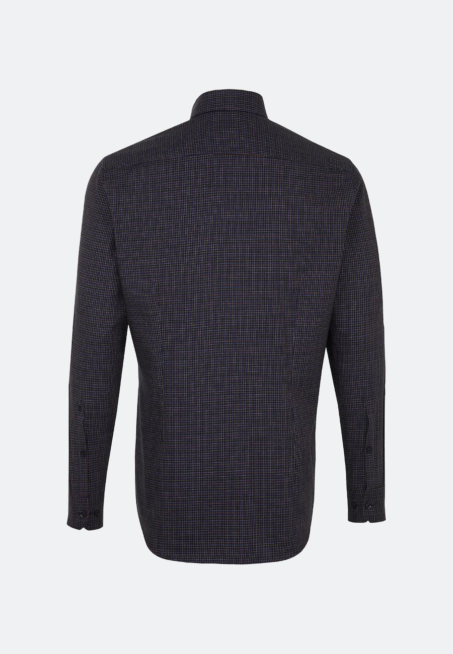 Easy-iron Twill Business Shirt in Slim with Button-Down-Collar in Purple    Seidensticker Onlineshop