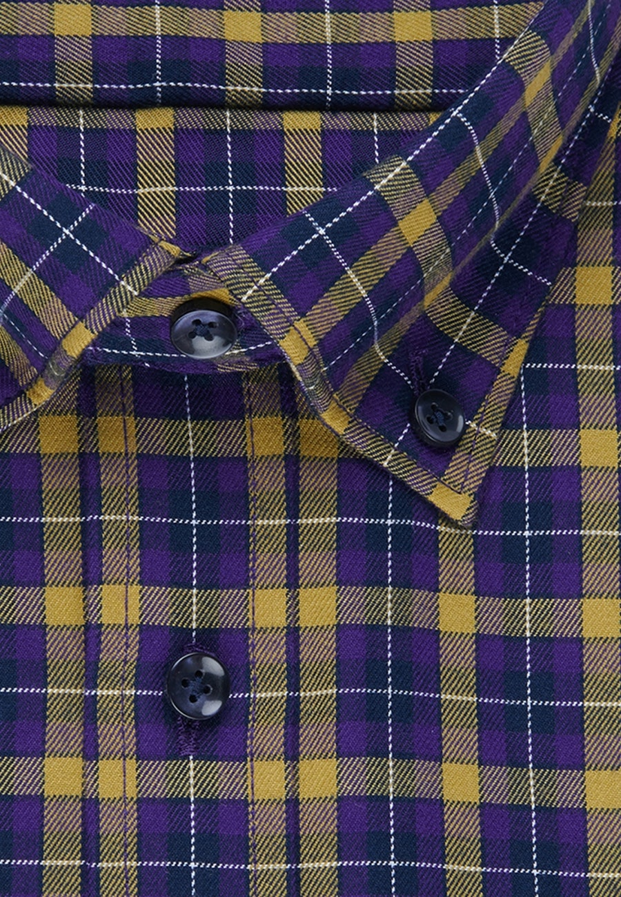 Easy-iron Twill Business Shirt in Slim with Button-Down-Collar in Yellow |  Seidensticker Onlineshop
