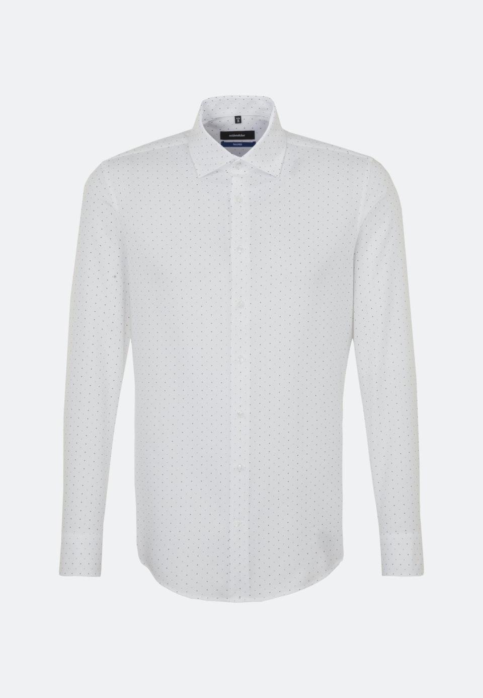Easy-iron Struktur Business Shirt in Shaped with Kent-Collar in White |  Seidensticker Onlineshop