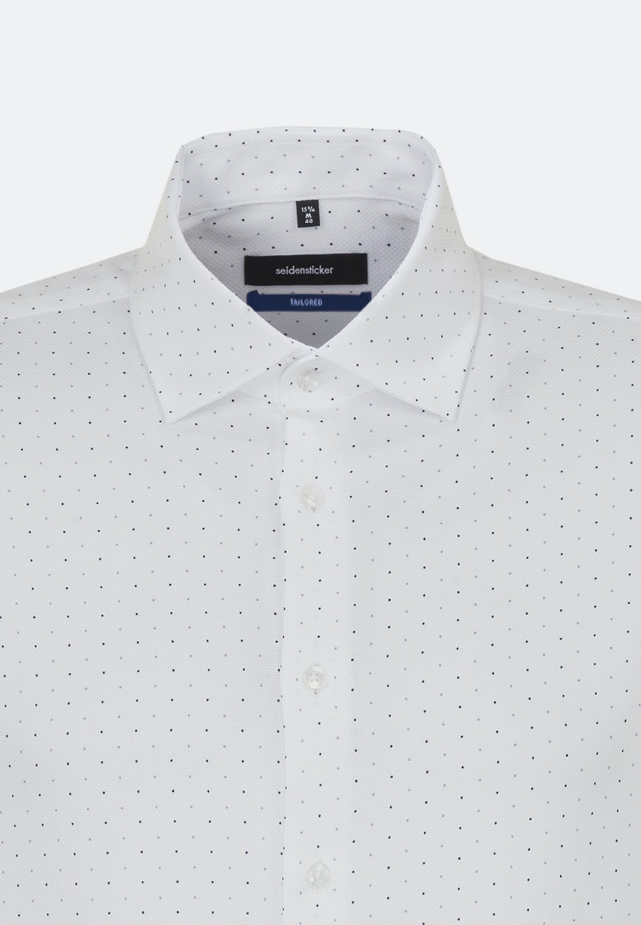 Easy-iron Struktur Business Shirt in Shaped with Kent-Collar in White |  Seidensticker Onlineshop