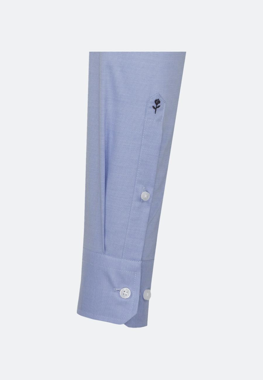 Non-iron Fil a fil Business Shirt in Slim with Kent-Collar in Light blue |  Seidensticker Onlineshop