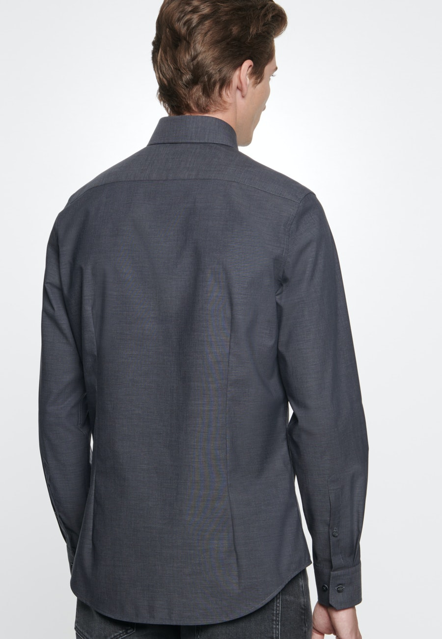 Bügelfreies Fil a fil Business Hemd in Slim mit Kentkragen in Grau |  Seidensticker Onlineshop