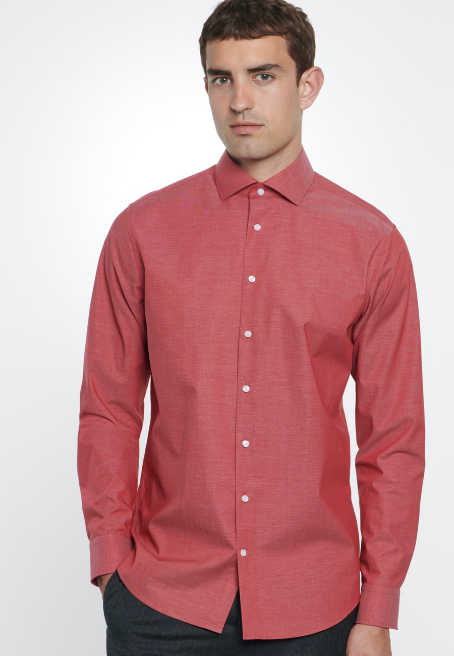 Non-iron Fil a fil Business Shirt in Slim with Kent-Collar in Red |  Seidensticker Onlineshop