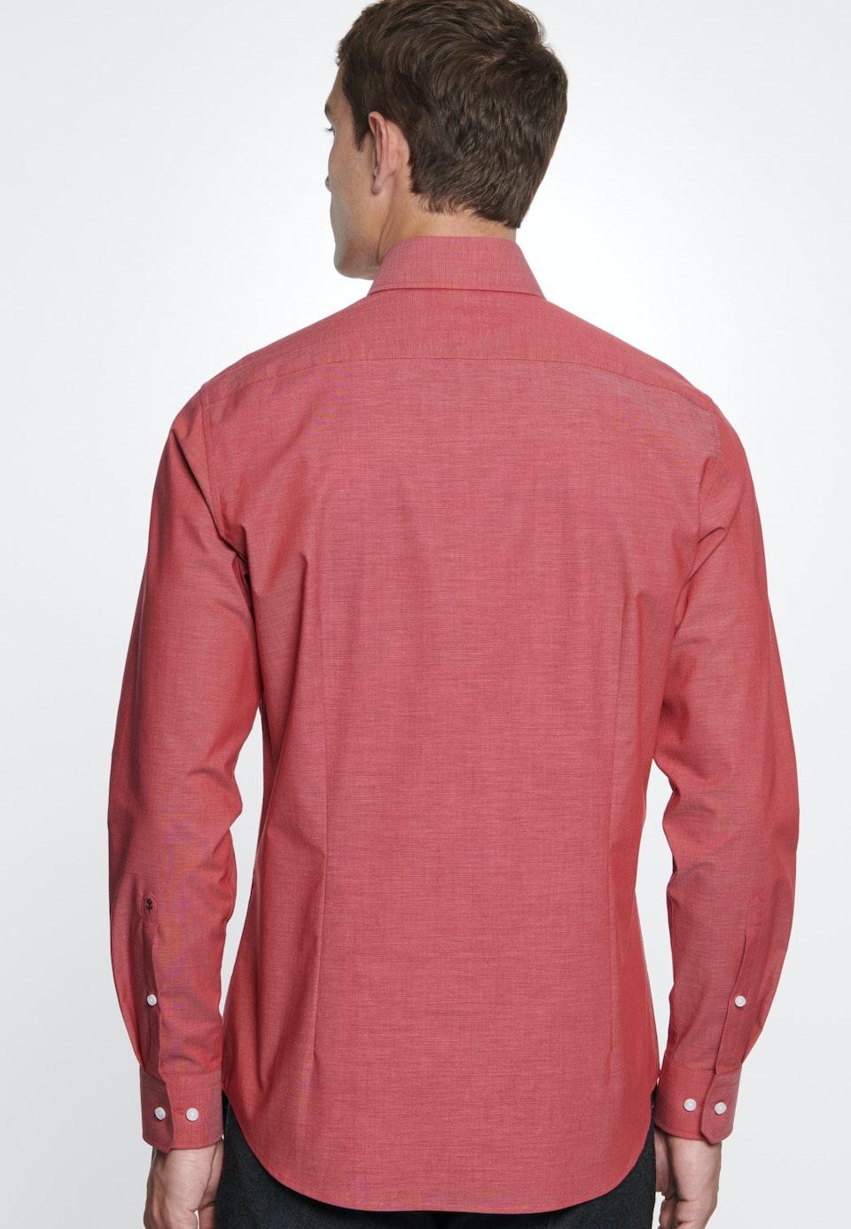 Bügelfreies Fil a fil Business Hemd in Slim mit Kentkragen in Rot    Seidensticker Onlineshop