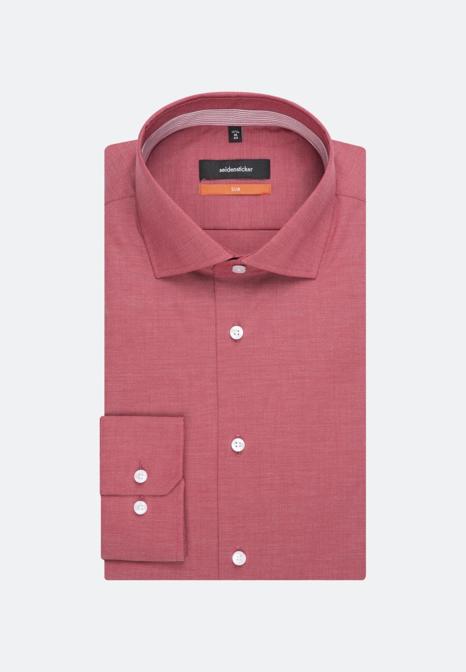 Bügelfreies Fil a fil Business Hemd in Slim mit Kentkragen in Rot |  Seidensticker Onlineshop