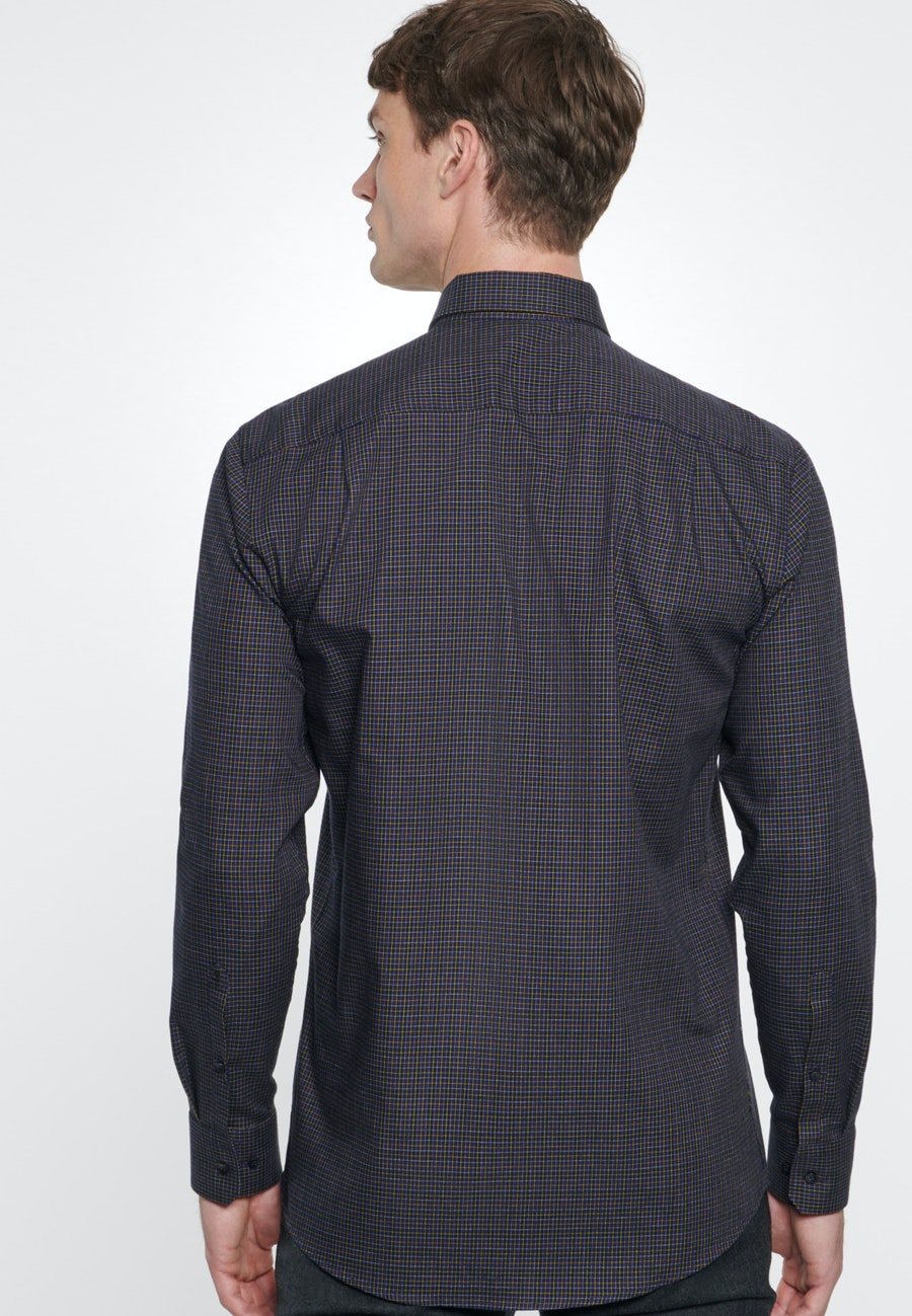 Bügelleichtes Twill Business Hemd in Regular mit Button-Down-Kragen in Lila |  Seidensticker Onlineshop