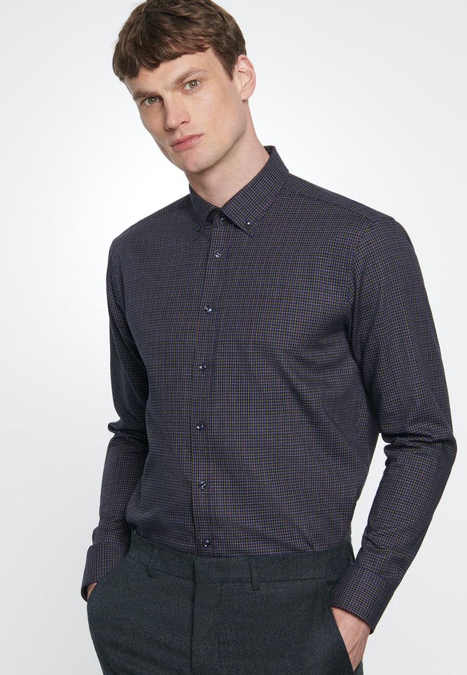 Easy-iron Twill Business Shirt in Regular with Button-Down-Collar in Purple |  Seidensticker Onlineshop