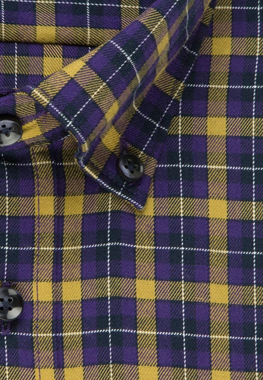 Easy-iron Twill Business Shirt in Regular with Button-Down-Collar in Yellow |  Seidensticker Onlineshop
