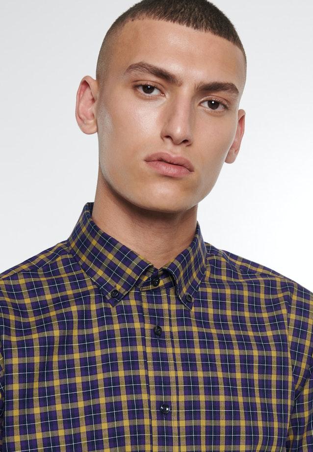 Bügelleichtes Twill Business Hemd in Regular mit Button-Down-Kragen in Gelb    Seidensticker Onlineshop