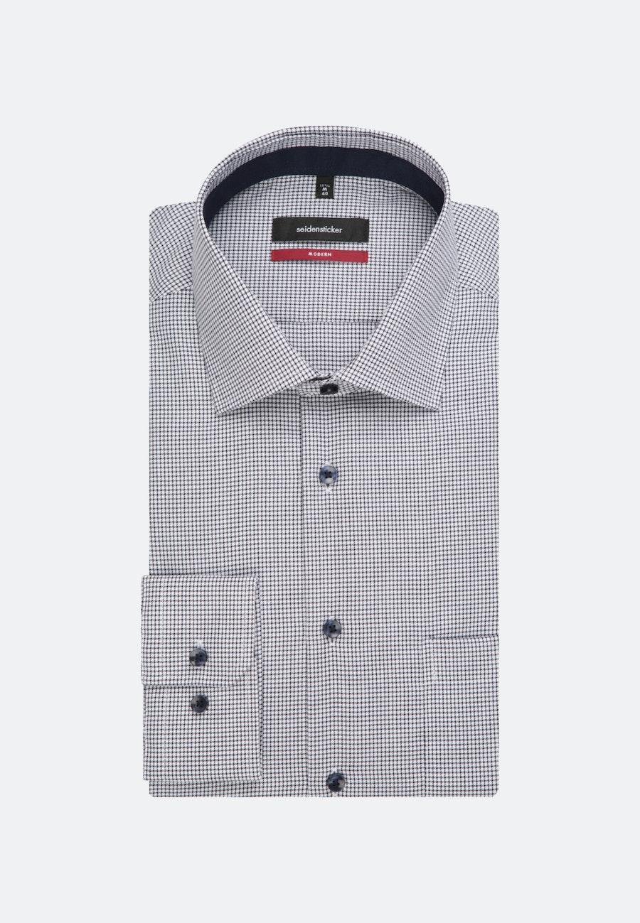 Bügelfreies Twill Business Hemd in Regular mit Kentkragen in Dunkelblau    Seidensticker Onlineshop